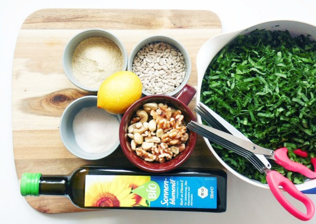 Bärlauchpesto Rezept vegan Sonnenblumenöl