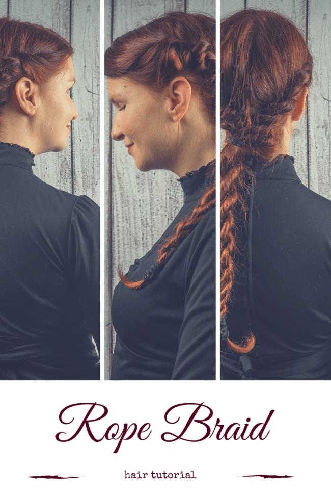 Kordelfrisur Haare kordeln Zopf Pinterest