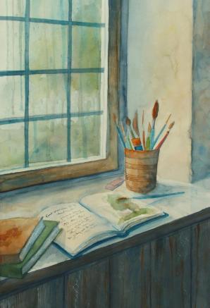 Hope's rainy day watercolor