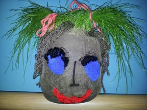 Gardening with Kids: How to Make a Grass Head