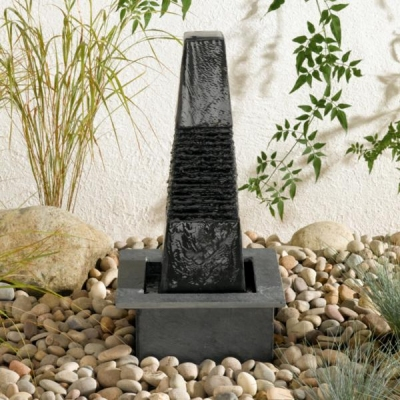 black slate water feature