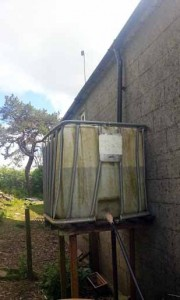 upcycled water tank for rainwater harvesting