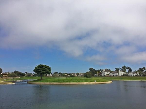 River Ridge Golf Course Oxnard California Hole 18 View of Back-side