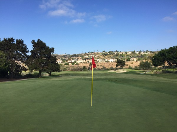 Omni La Costa Spa & Resort  CHAMPIONS Carlsbad California Hole 9 Green-side