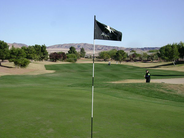 Stallion Mountain Golf Club Las Vegas Nevada Hole 16 Green-side
