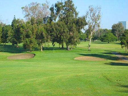Recreation Park Golf Course (18) Long Beach California. Approach Hole 8