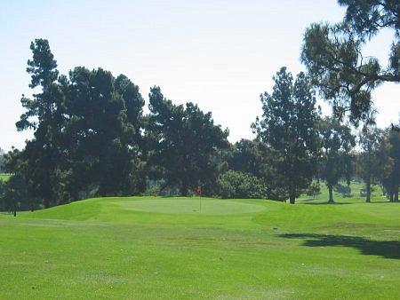 Recreation Park Golf Course (18) Long Beach California Hole 15