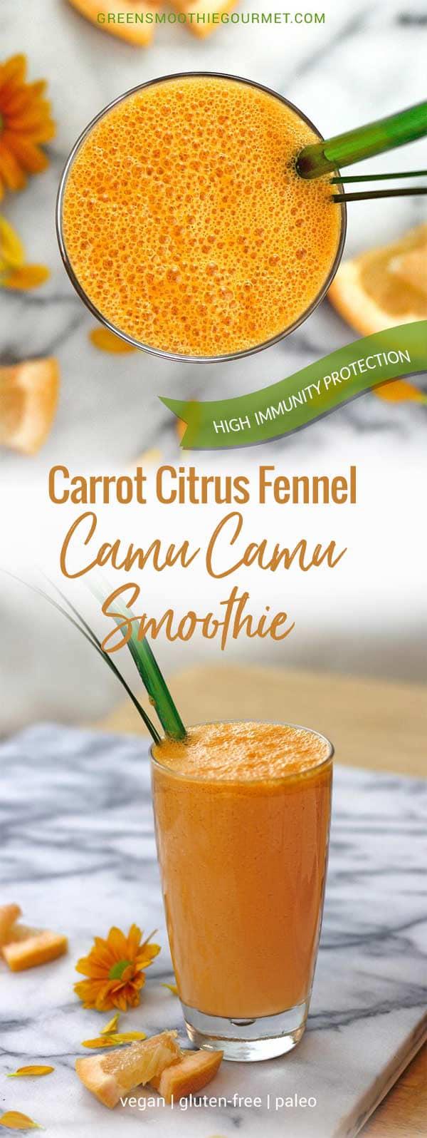 Citrus Fennel Camu Camu Smoothie