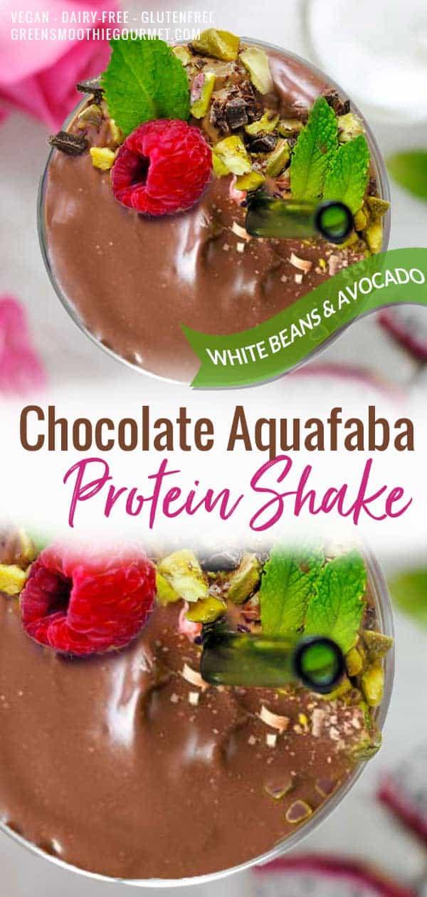 Chocolate Aquafaba Protein Shake (White Beans + Avocado)