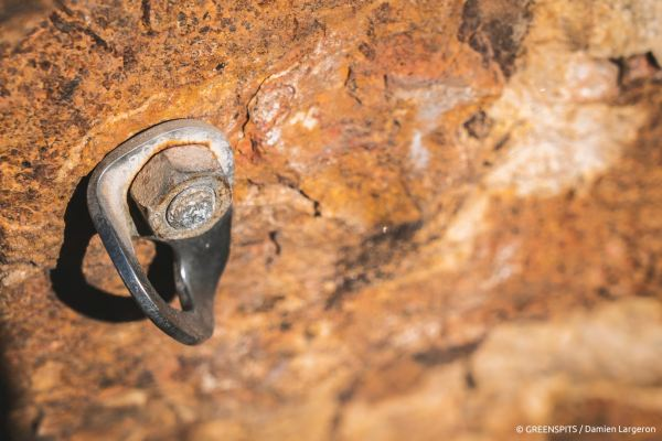 projet rééquipement Greenspits vieux point dans le rocher