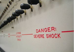 "Milgram's ""shock box"""