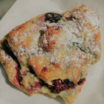 Mixed berry scone