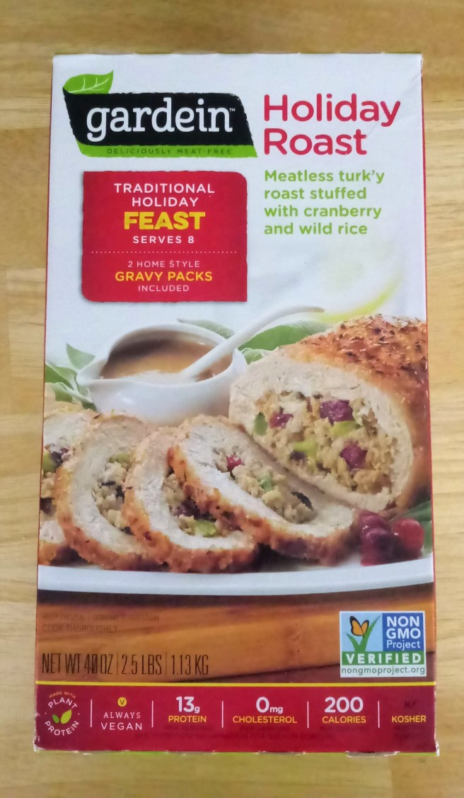 Gardein Holiday Roast, purchased at the Grocery Outlet