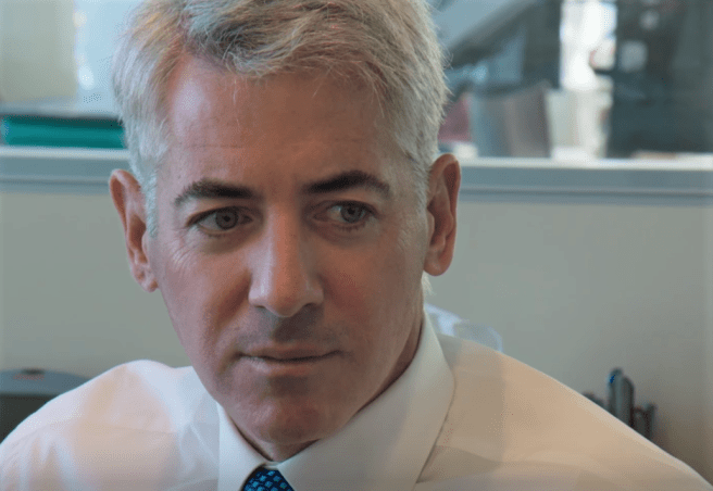 A close-up of Bill Ackman, Founder of the SPAC, Pershing Square Tontine Holdings
