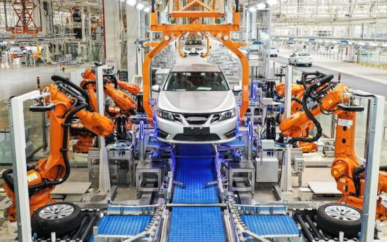 Сборочный цех автомобильной производственной базы Evergrande 2
