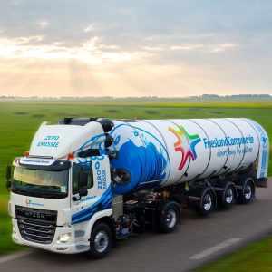 Первый водородный молоковоз приступил к работе