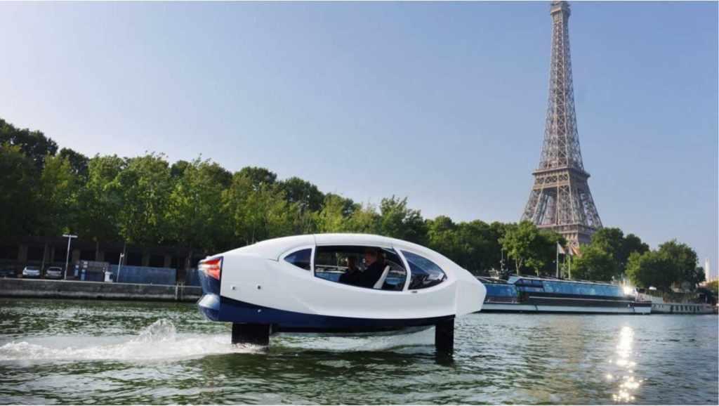 французское электрическое водное такси на подводных крыльях SeaBubbles