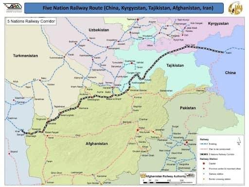 Проект будущей железной дороги из Китая на Иран, и далее на Ирак