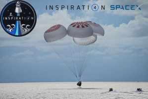 Экипаж корабля Crew Dragon Resilience миссии Inspiration4 благополучно вернулся на Землю