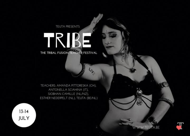 Tribe Tribal Fusion Teacher festival in Ghent, Belgium 2019, Featuring Antonella Sciahina, Amanda Pittoreska, Siobhan Camille of Greenstone Belly Dance and Esther Nederpelt