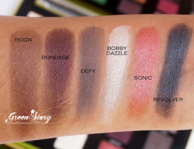 Urban Decay Vice3 Palette Swatch