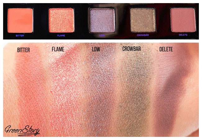 Urban Decay Vice 4 Eyeshadow swatch