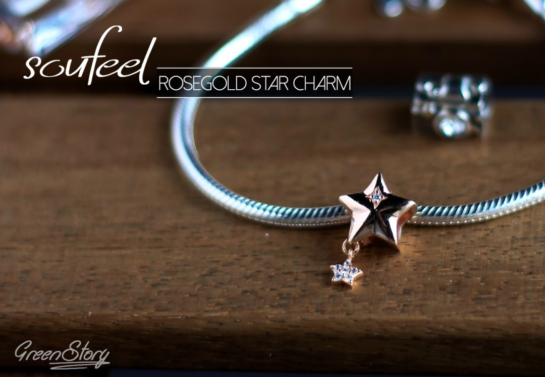 Soufeel Rose Gold Star Charm
