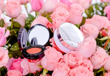 Lancome Blanc Expert Cushion Compact Foundation and Blush