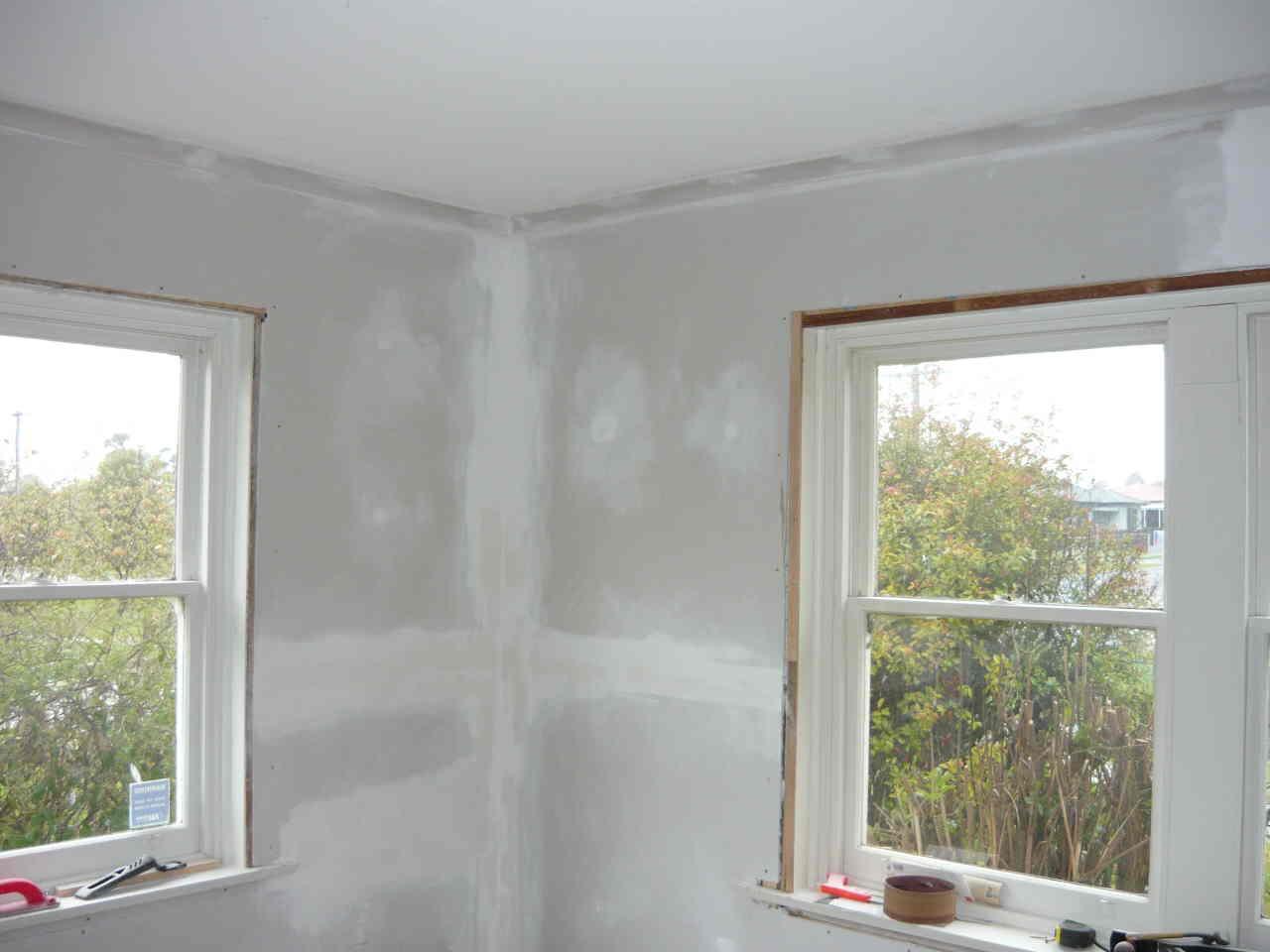 new plasterboard & cornice