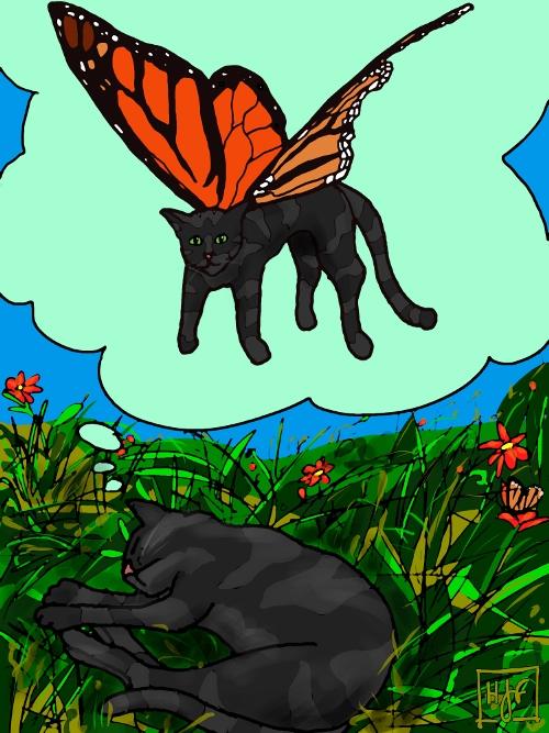 Issas Cat Comic Green Tea Doodles