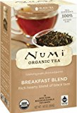 Numi Organic Tea Breakfast Blend, Full Leaf Black Tea, 18 Count non-GMO Tea Bags (Pack of 3)