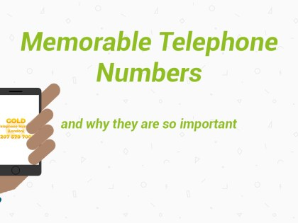 Memorable Telephone Numbers