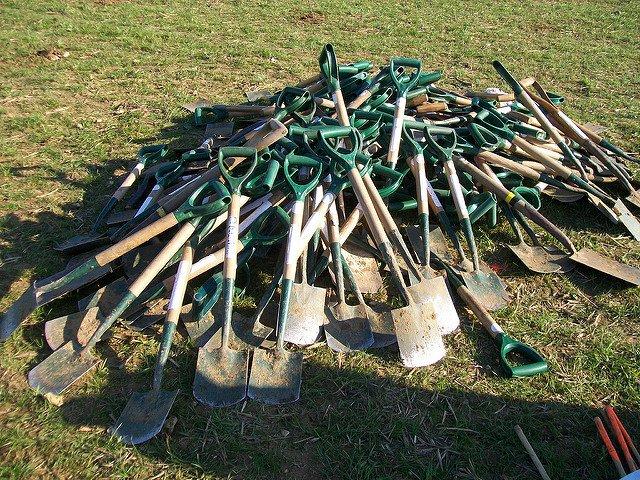 Spade or Shovel gardening tool