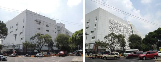 Comparando o antes e depois da aplicação dos elementos de fachada Prosolve.