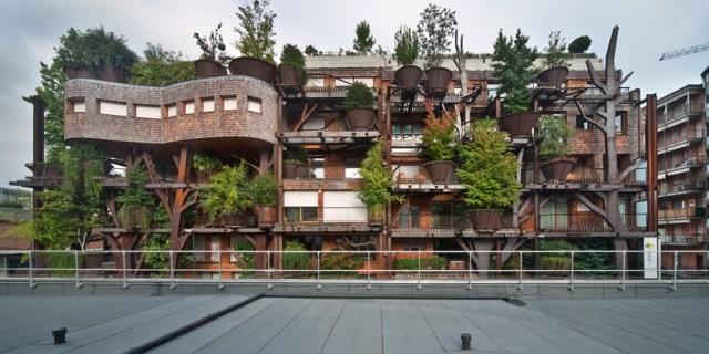 Com ares de construção espontânea, o projeto de Luciano Pia remete a uma casa na árvore. (Fonte: Archdaily).