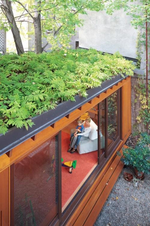 Telhados verdes auxiliam no conforto acústico. (Fonte: Unhappy Hipsters).