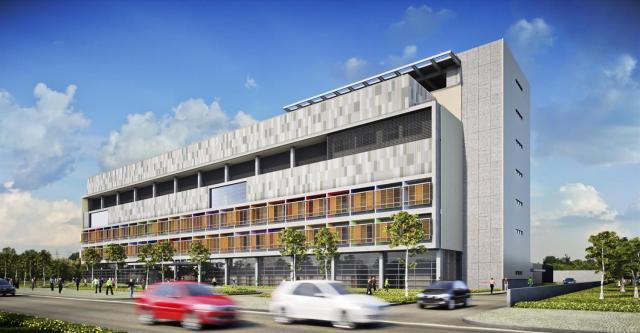 Os terraços nos quartos do Hospital garantem uma melhor iluminação e ventilação natural e mais conforto para os pacientes. (Fonte: Galeria da Arquitetura).