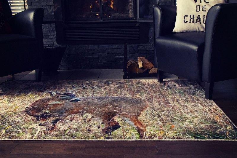 G8011 08 Chevreuil-Deer tapis carpet