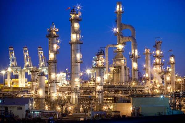 Refining crude oil to oil products