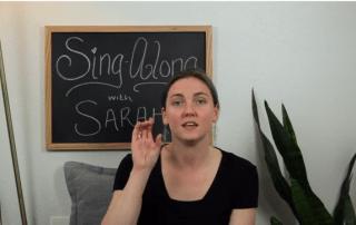 Teacher Sarah Sings and Signs the ABCs
