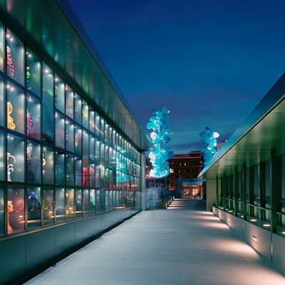 Glass display bridge museum of glass