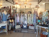 Some of our scarves and bags.