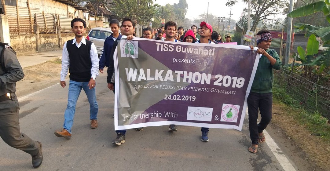 TISS Walkathon 2019 for Pedestrian Safety in Gauhati, Assam