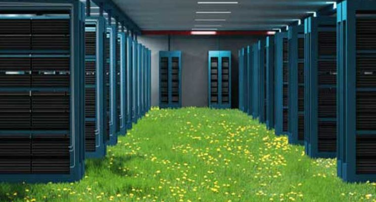 Use green data centers and cloud computing for sustainable development
