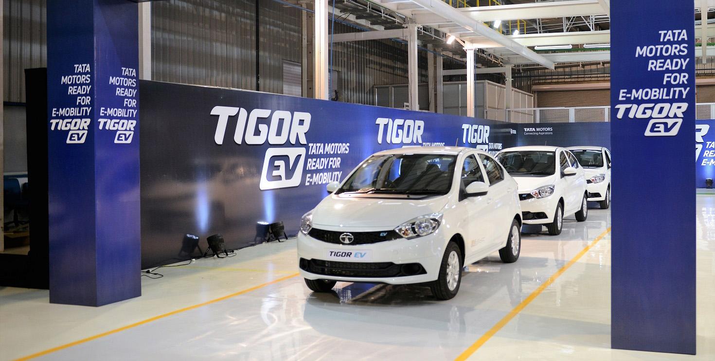 Tata Tigor EV by Tata Motors, green cars