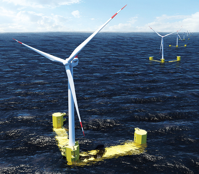 World's first floating wind energy power plant launches in Scotland