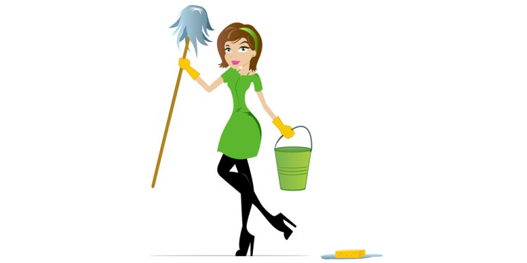 green cleaning lady 2
