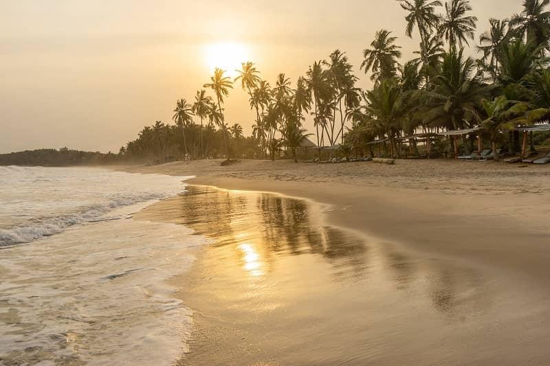 Three clean & swimmable beaches in Ghana