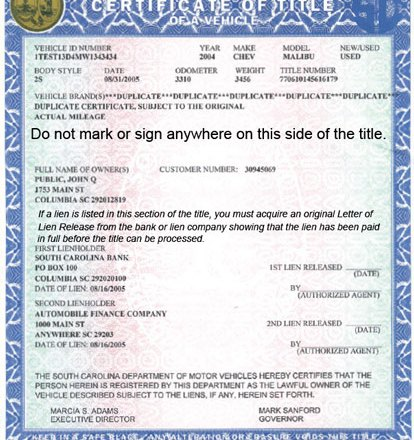 Vehicle Title Transfer