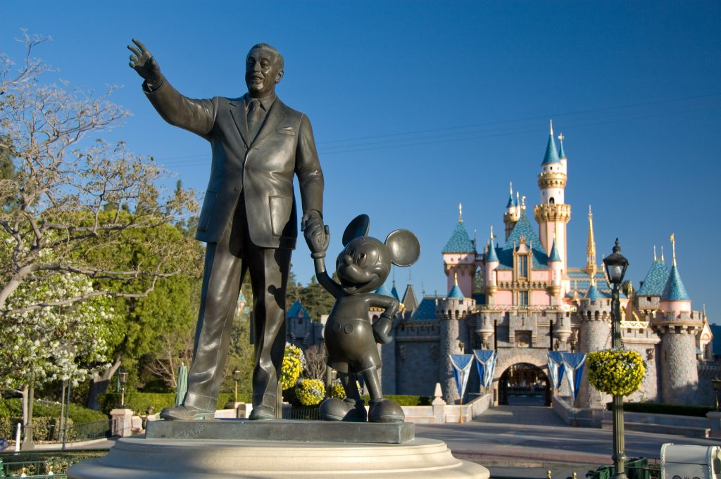 Statue of Walt Disney and Mickey at Main Street